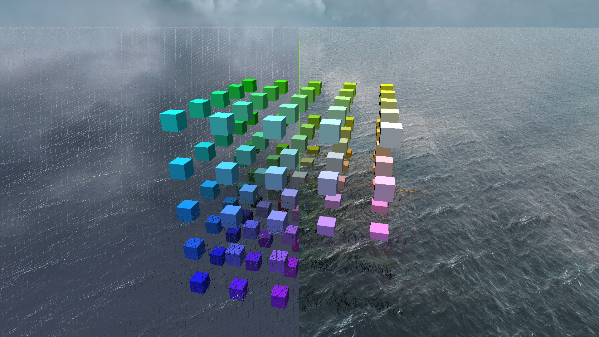 Screen space projected grid with GLSL and WebGL - Jérémy BOUNY